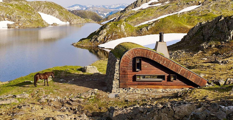 Tiny Lakeside Lodge - Snhetta - Norway - Exterior 2 - Humble Homes