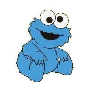 cookie monster's mother and father have his enormous appetite ... - Baby Cookie Monster Coloring Pages