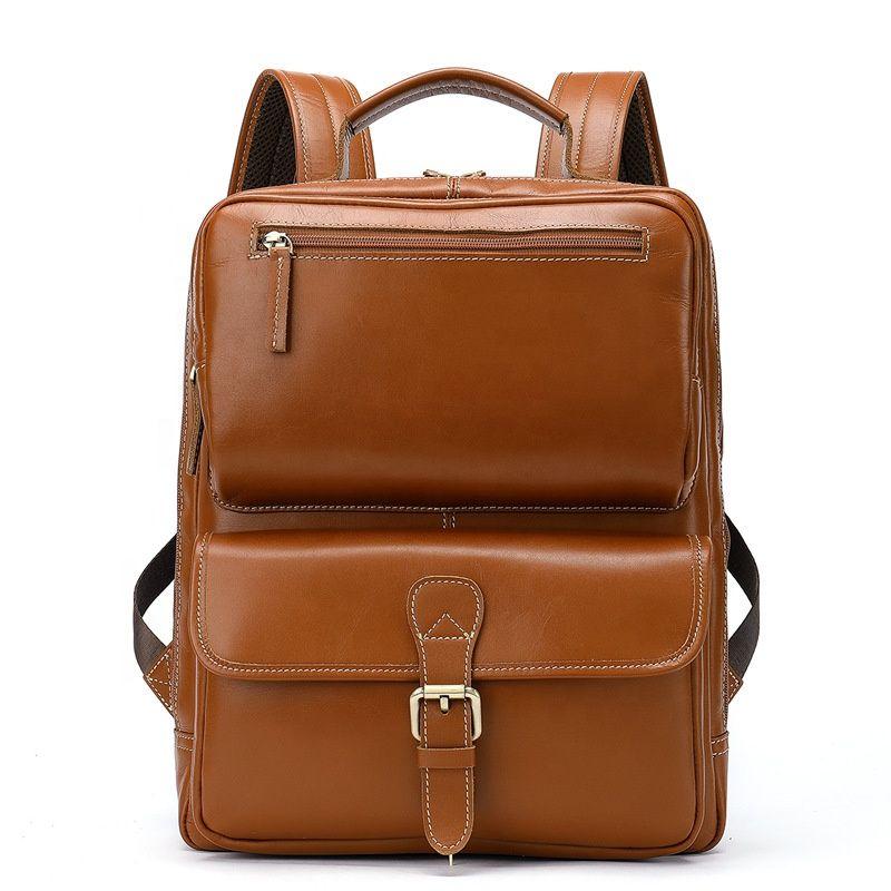 b6c9e9d2f2 2019 latest wholesale fashion brands leather man bag mens genuine leather  messenger bag laptop backpack FS2321