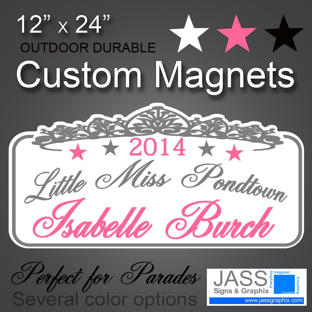 Parade Car Magnets For Pageant Queens Custom Magnets Car - Custom car magnet cheap