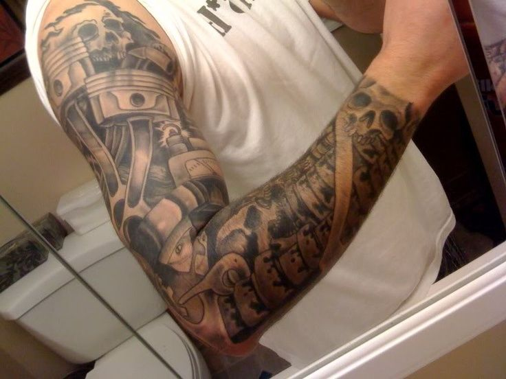 Piston And Wrench Tattoo Designs Tattoo removal.