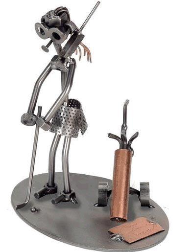 Figuras Con Tuercas Metal Reciclado Artistikool Figuras En