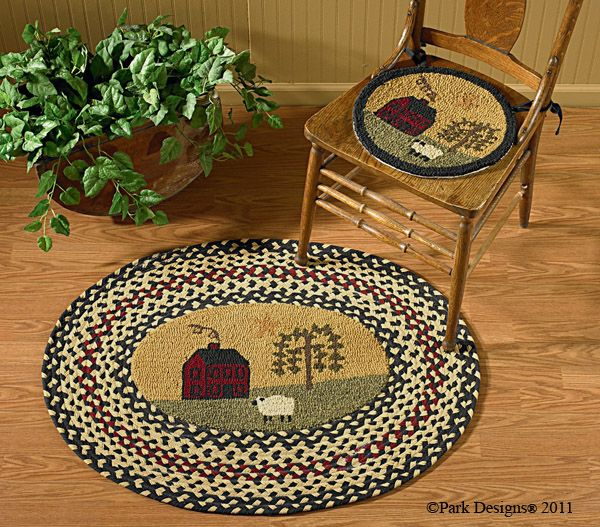 Country Kitchen Fairbanks: Rug Hooking Chair Pads