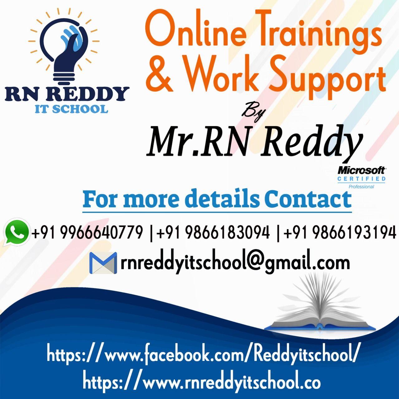 Rn Reddy Is The Best Online Software Training Institute For Java C Net Asp Net Oracle Testing Tools Salesforce Devops Online Training Sql Server Online