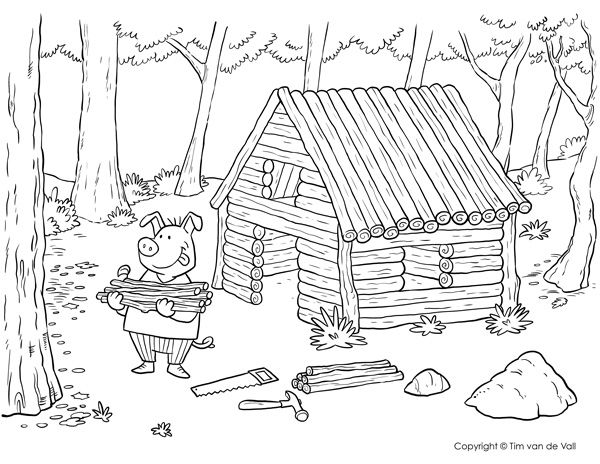 little pig coloring pages - photo#35