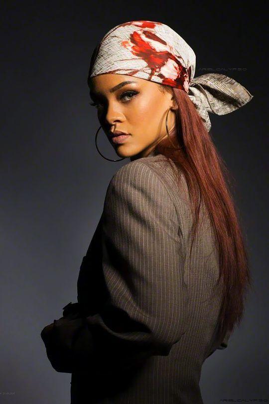 82e6264a331ac Tie One On: 14 Ways to Wear a Headscarf in 2019 | Rihanna | Scarf ...