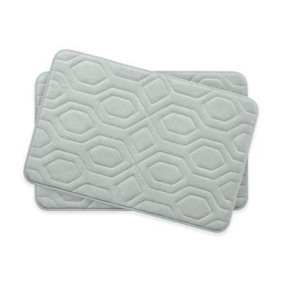 Bounce Comfort Turtle Shell Memory Foam 17 X 24 Bath Mats In