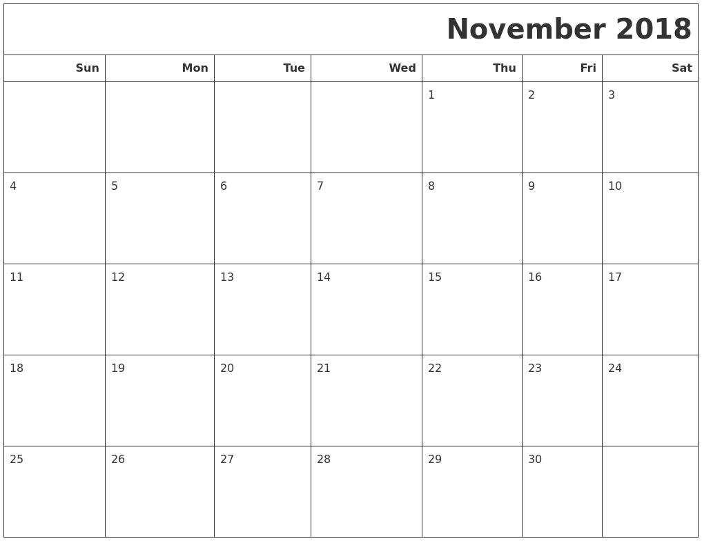 simple monthly calendar template