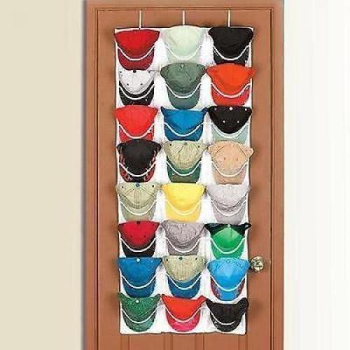 Over Door Cap Organizer Hanger Baseball 24 Hat Closet Storage Rack Room  Holder In Home