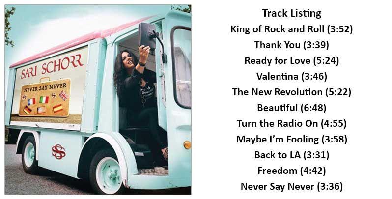 Sari Schorr New Album In October Never Say Never Ready For Love Never Say Never Album