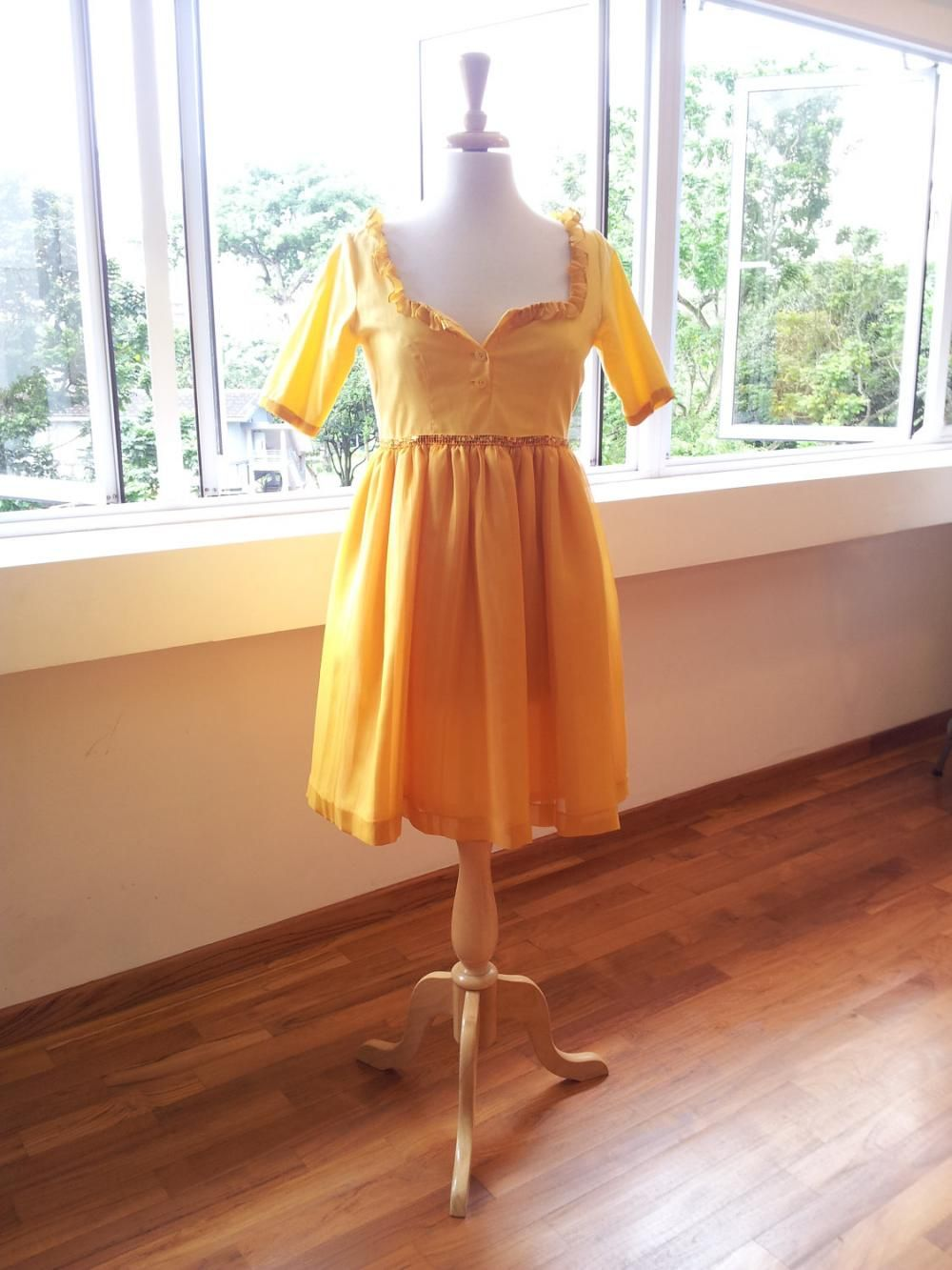 Romantic Yellow Dess - Crazy Happy Sun Dress