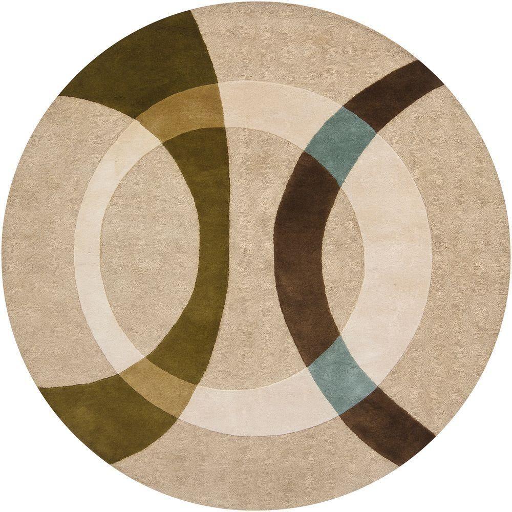 Chandra Bense Cream Beige Green Brown Blue 8 Ft X 8 Ft