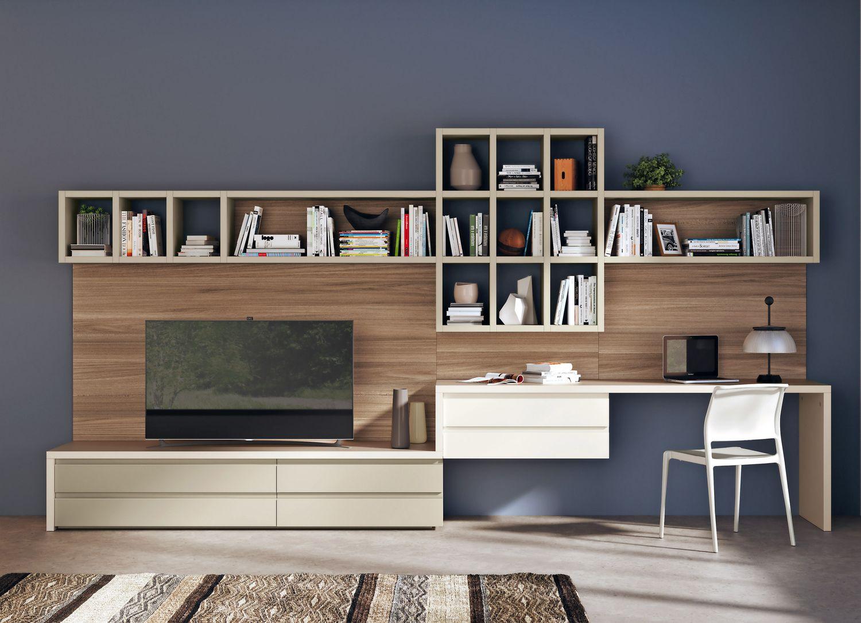 Parete Attrezzata Tortora E Bianco foto parete attrezzata per il soggiorno: 25 idee di design