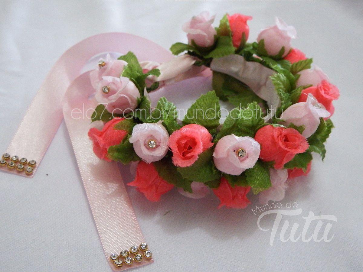 Acessorio Para Coque Ou Porta Coque De Bailarina Feito Com Flores