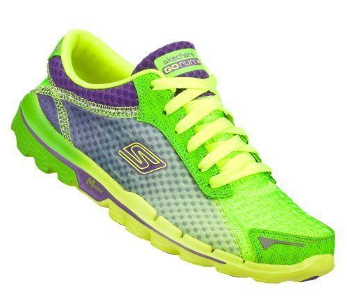 Skechers Go Run 2 Supreme Womens Running Shoes Green Purple 6