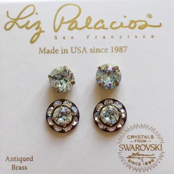 96e02edc1391c ✨LIZ PALACIOS EARRINGS✨ Brand new in box. Swarovski crystals set ...