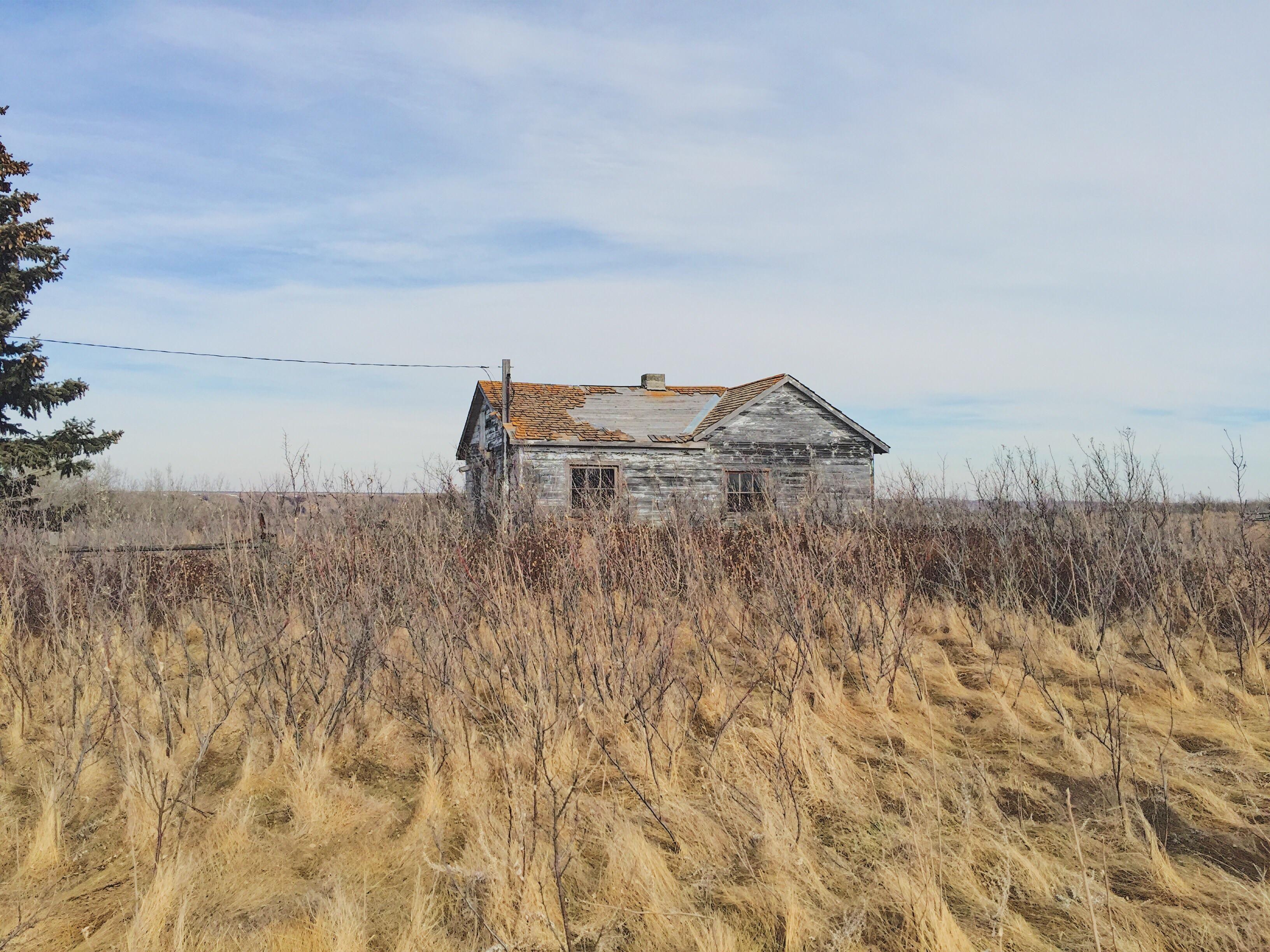An old abandoned farmhouse just outside of Regina Saskatchewan