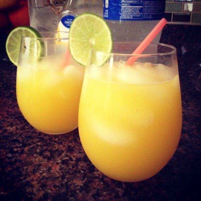 Skinny Creamsicle! Whipped Cream Vodka/trop50 Orange Juice
