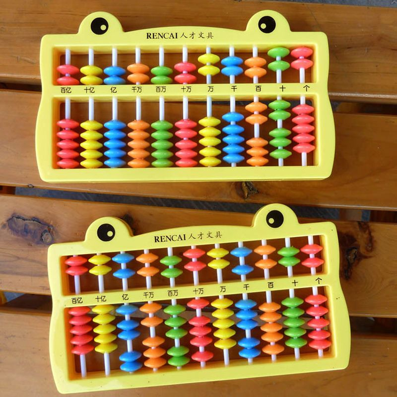 1 PC Kids Maths toys baby colorful Plastic Abacus Arithmetic Soroban ...