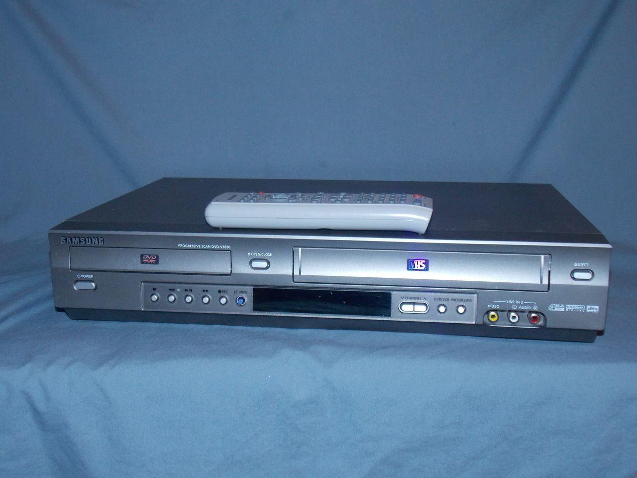 VCR-Players.com - Samsung DVD-V3650 VHS VCR DVD Combo Player w ...