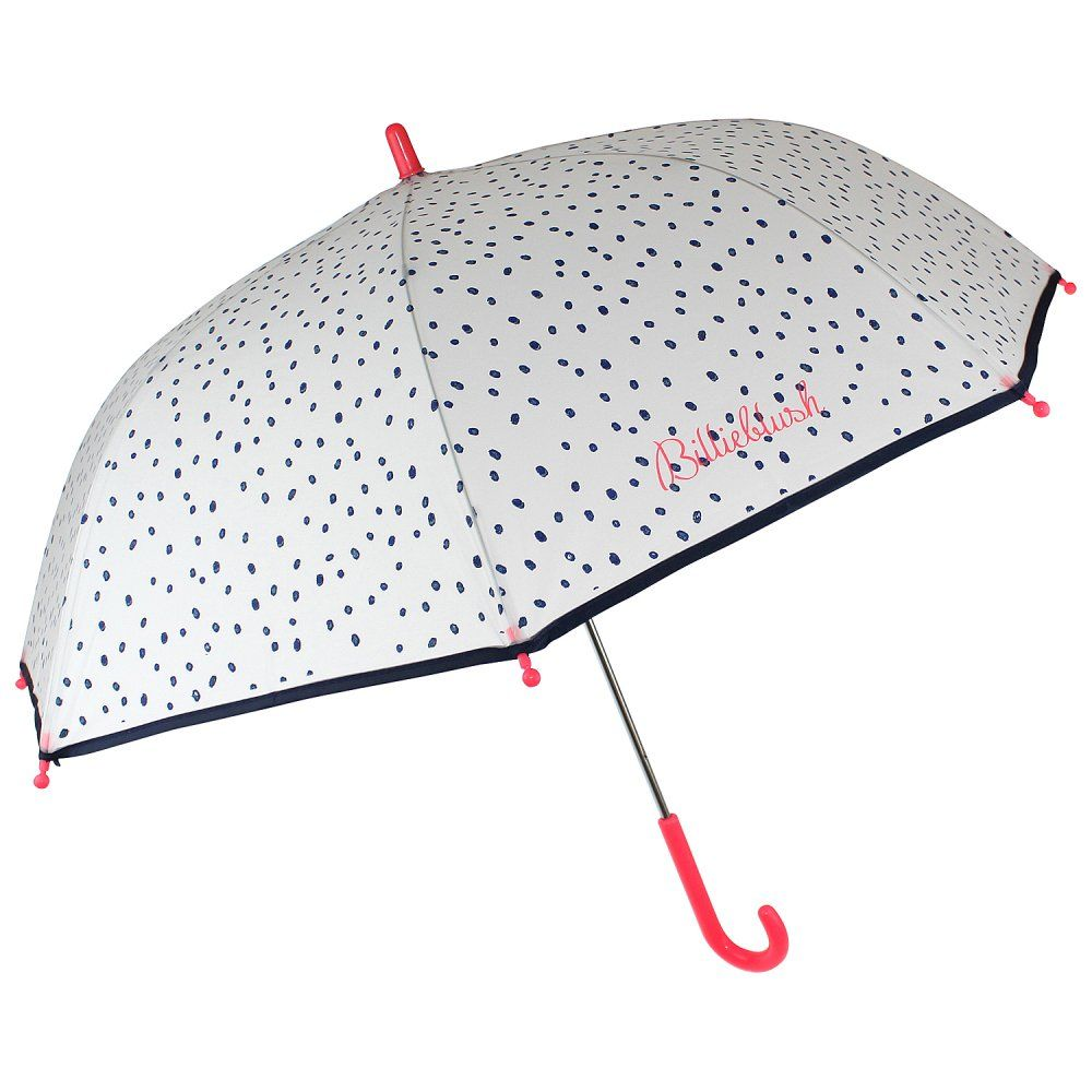 Billieblush White and Navy Polkadot Umbrella.