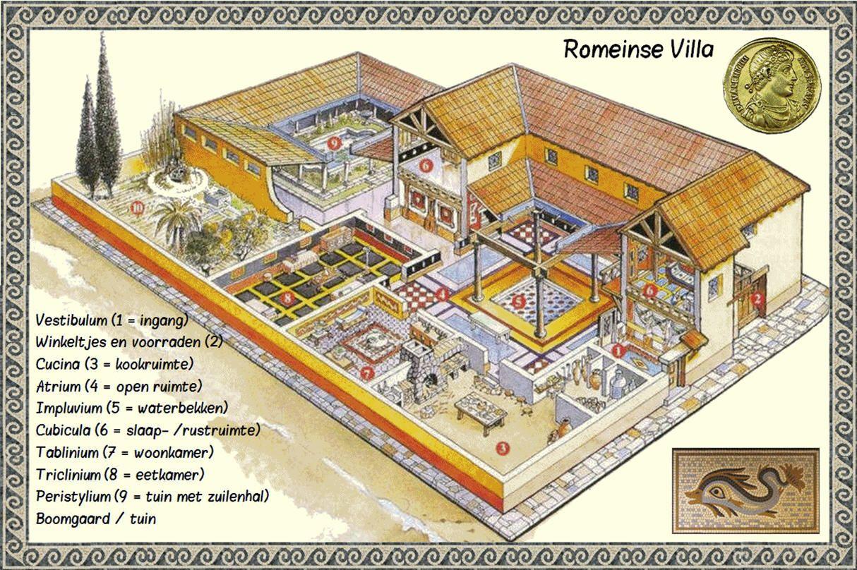 Een romeinse villa geschiedenis pinterest - Decoratie van de villas ...