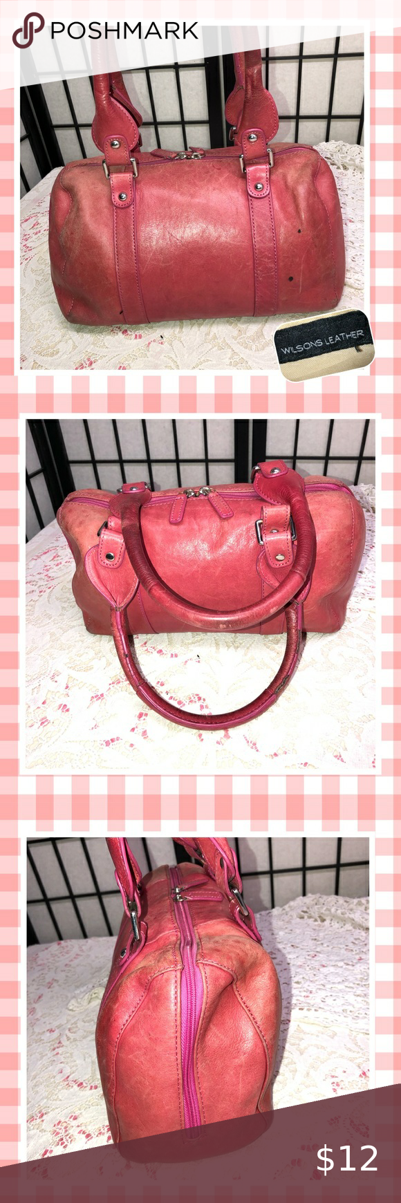 PROJECT PURSE WilsonsLeather Red Barrel Bag in 2020