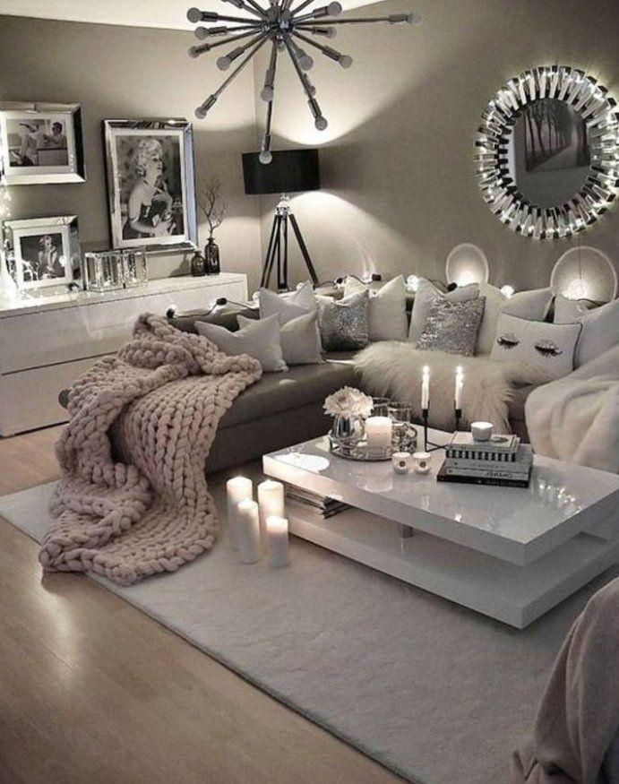 Gem tliche neutrale Wohnzimmerideen   Erdgraue Wohnzimmer zum Kopieren diybedroomdecorgray … in ...