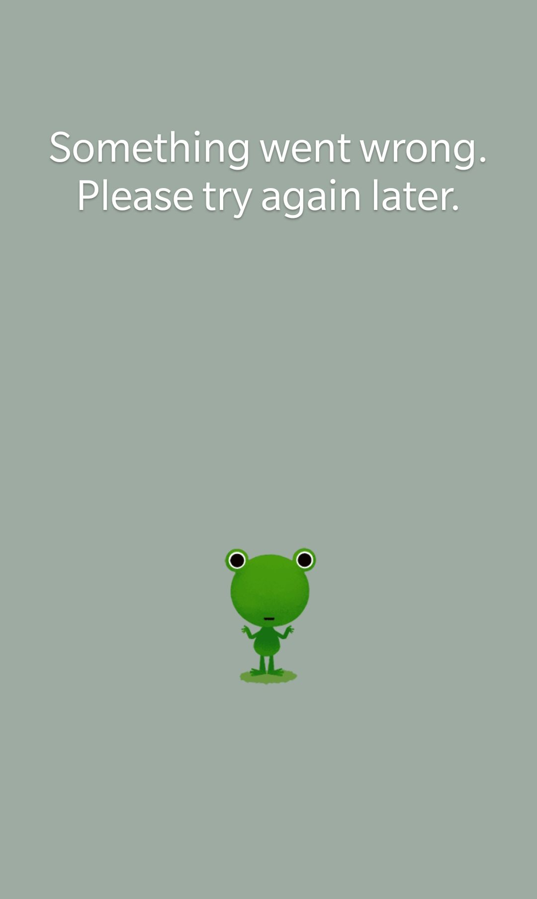 Android Google weather frog error (Something went wrong