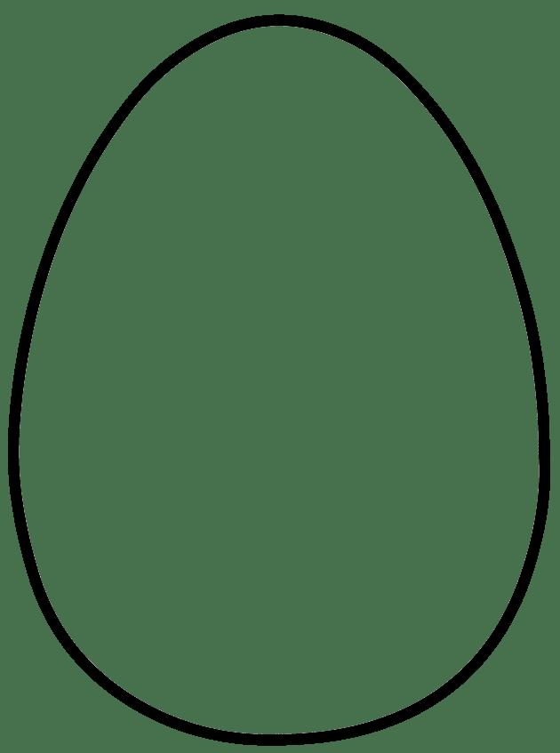 Large Egg Shape Template Easter Egg Template Easter Egg Pattern Easter Egg Printable