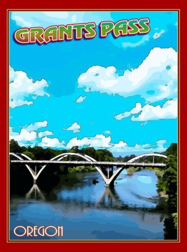 Grants-Pass-Bridge-Oregon-United-States-America-Travel-Art-Poster-Advertisement