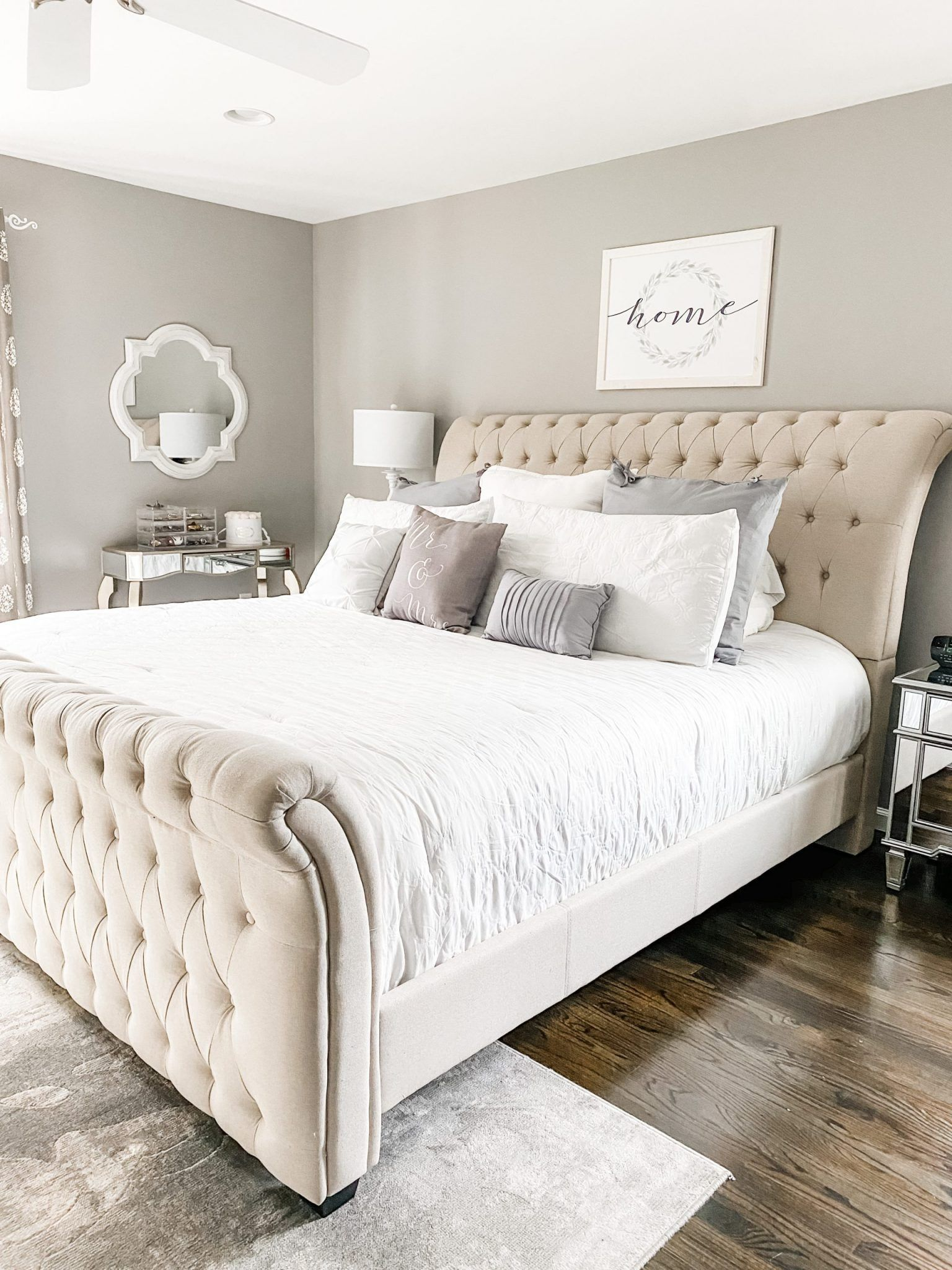 Master Bedroom Refresh With Raymour Flanigan Kids Bed Canopy