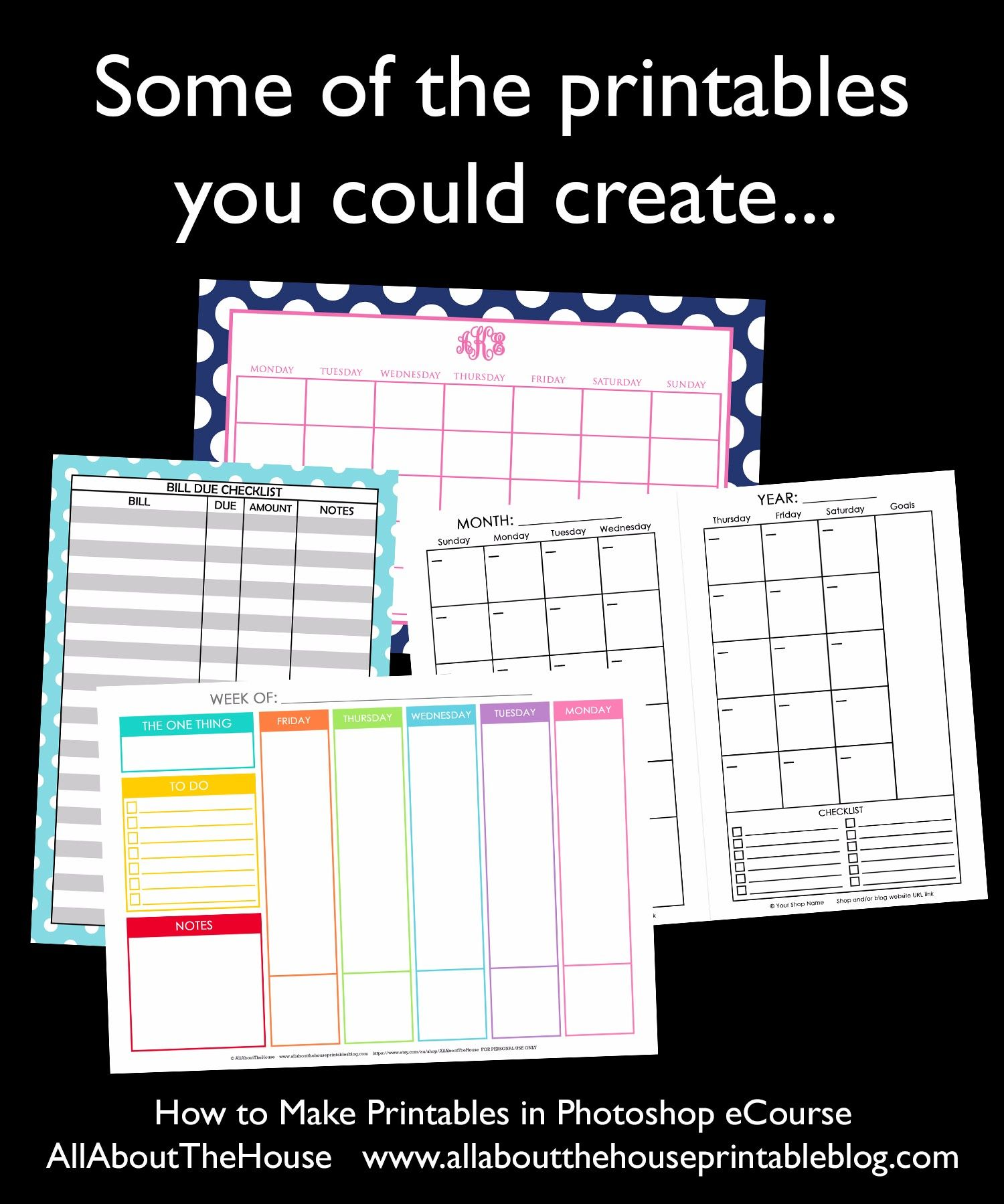 Step by step video tutorials so you can design a planner