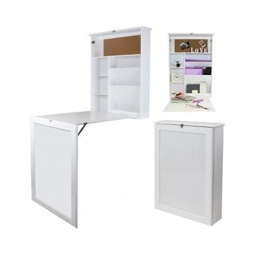 Fold Up Wall Mounted Desk Table Foldable Study Unit Space Saver Computer  Hanging | EBay