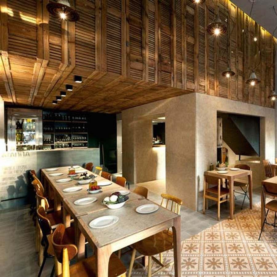 vintage italian barcelona style dining. Vintage Restaurants | Cozy Restaurant Design Brings Warm And Homey Feelings : Wooden . Italian Barcelona Style Dining P
