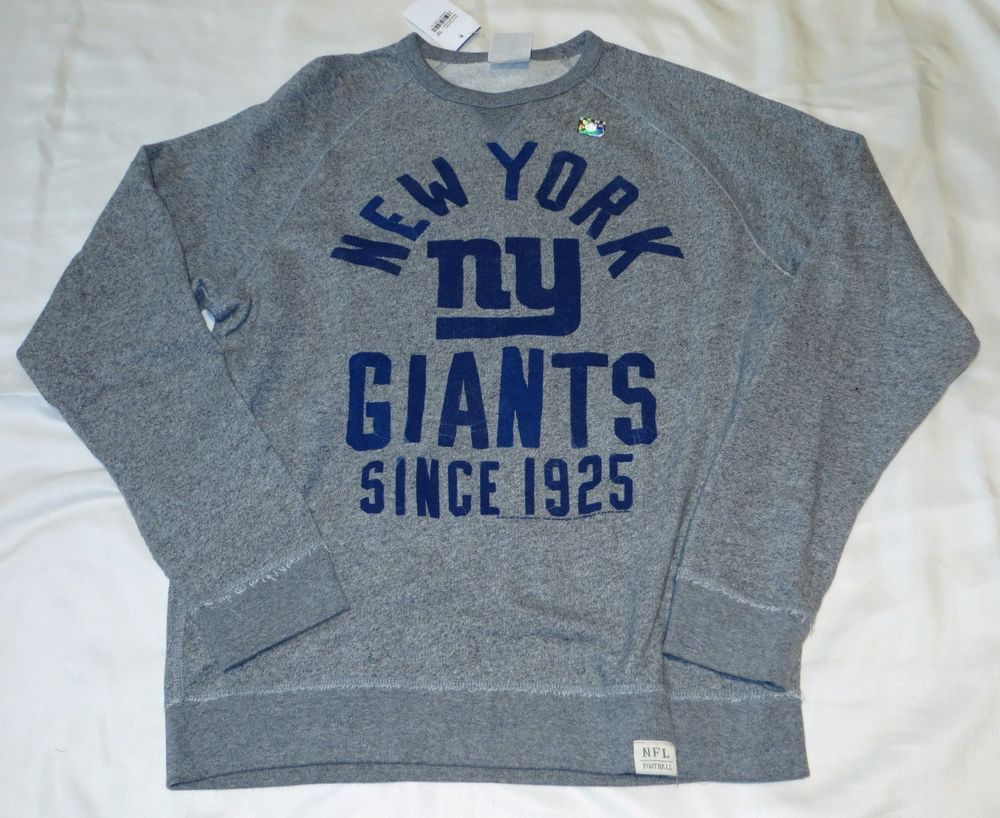 Junk Food Womens NFL NY Giants Hoodie Sweatshirt Grey XL New