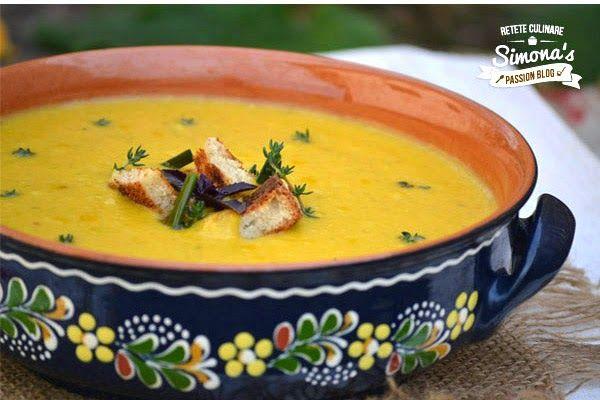 Supa crema de dolveac cu praz si cartofi