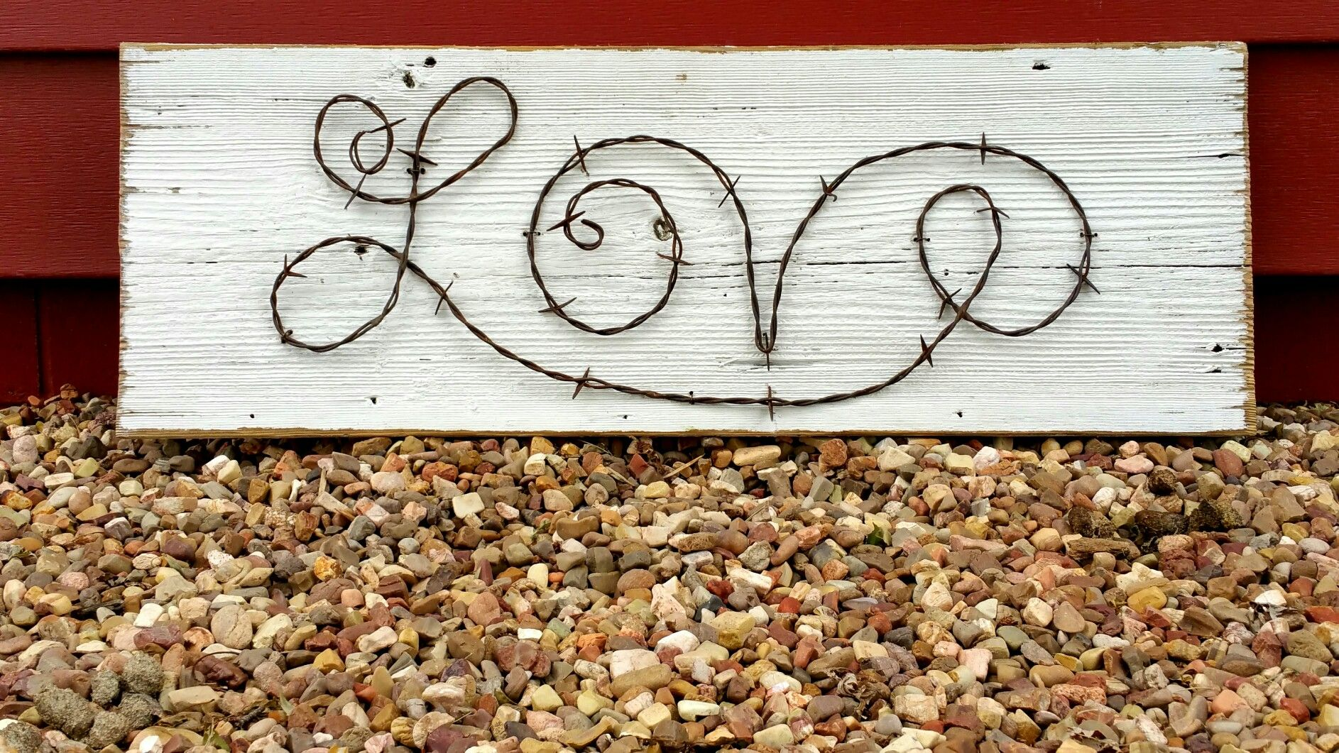 Custom word made from upcycled recycled reclaimed barbed wire by The ...