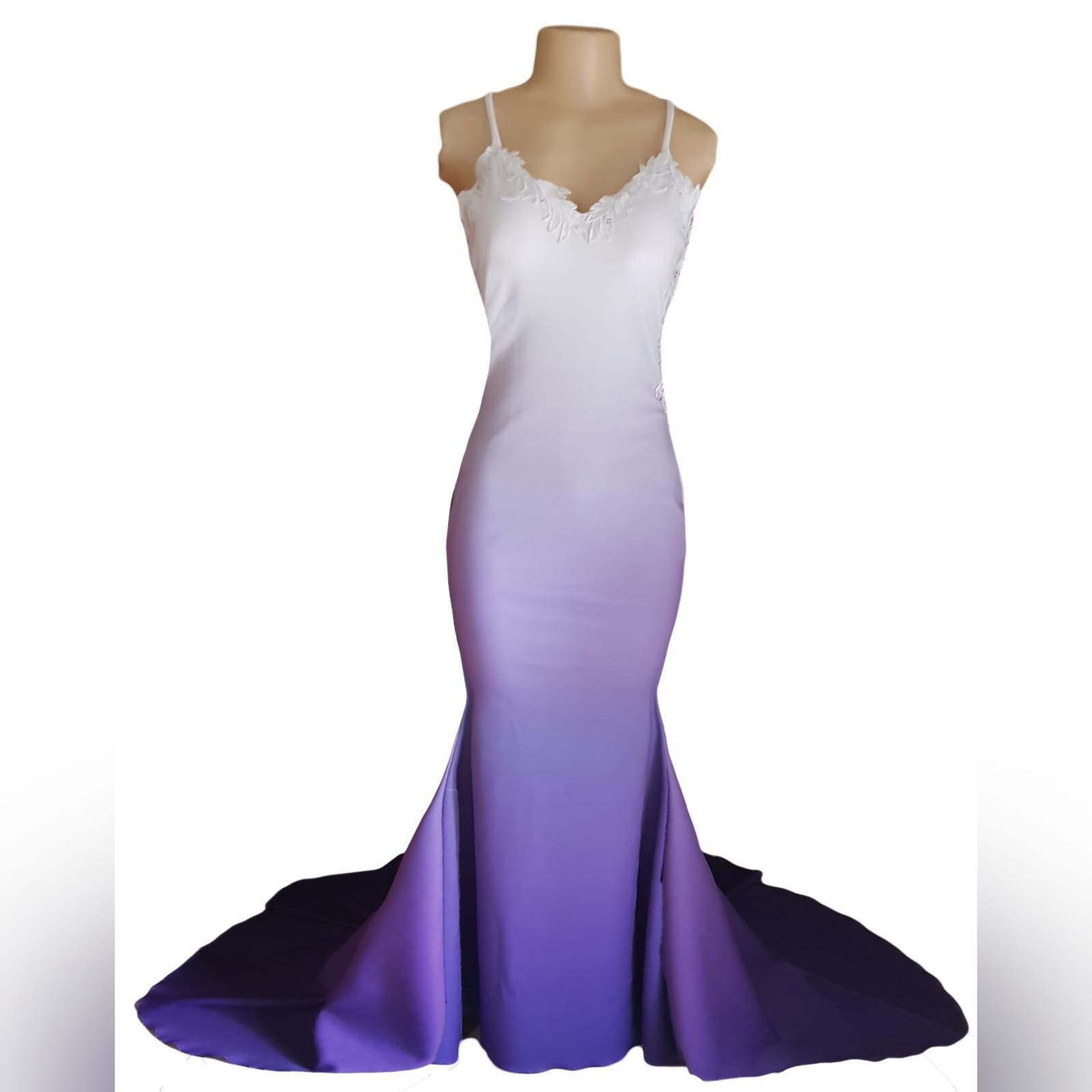 Vestido De Finalistas Ombre Branco E Roxo Prom Dresses Mermaid Prom Dresses Dresses [ 1600 x 1600 Pixel ]