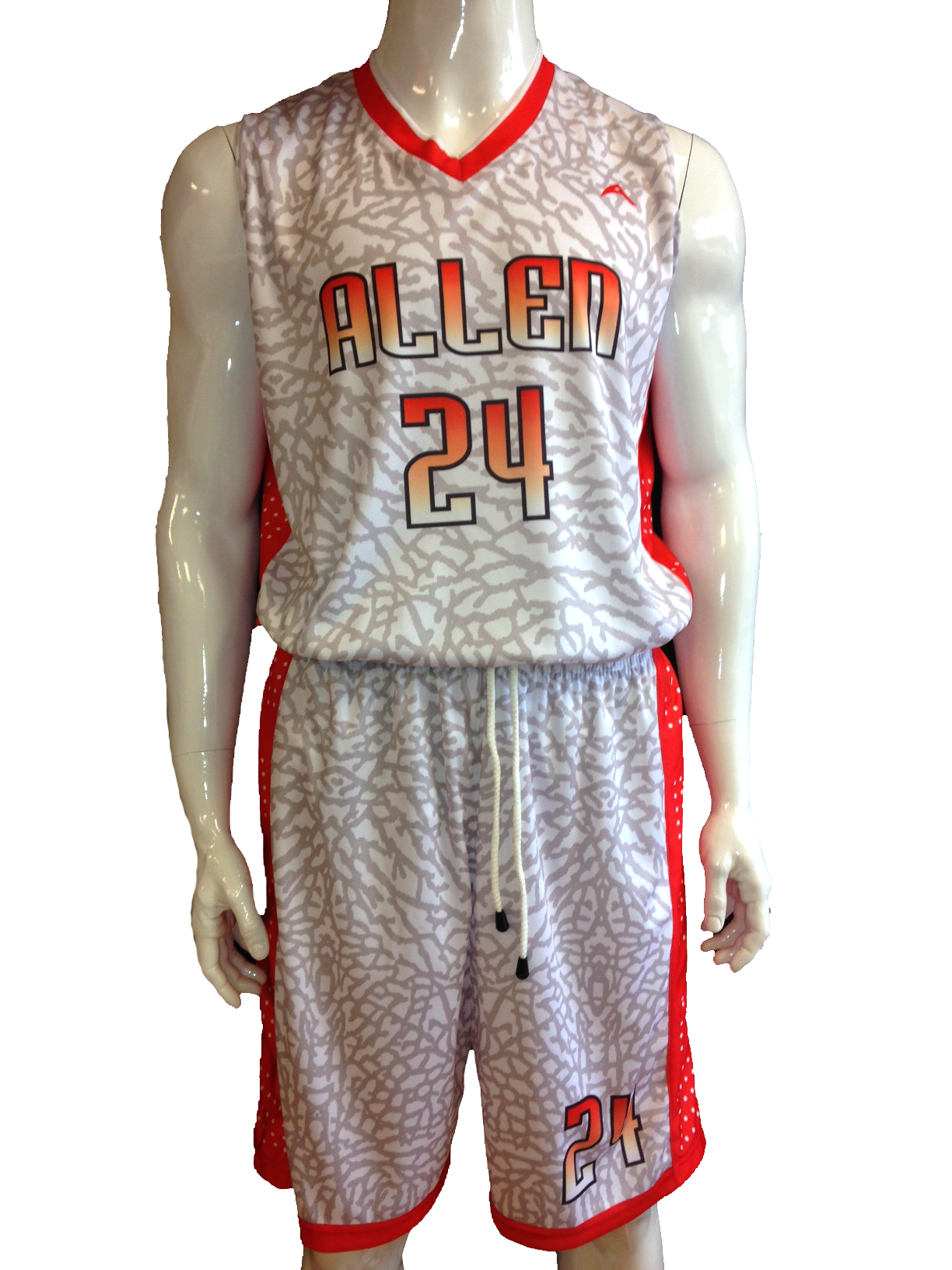 7357b44ddc5 sublimated basketball uniform
