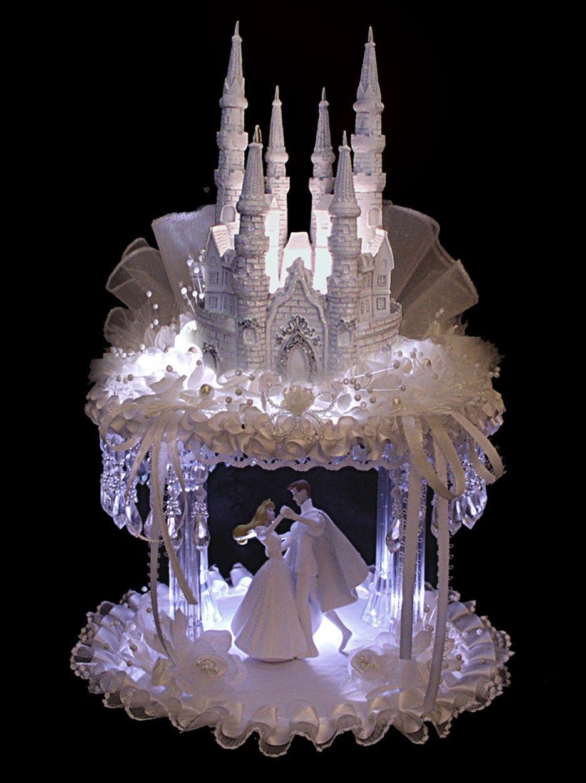Sleeping Beauty Wedding Castle Cake Topper By
