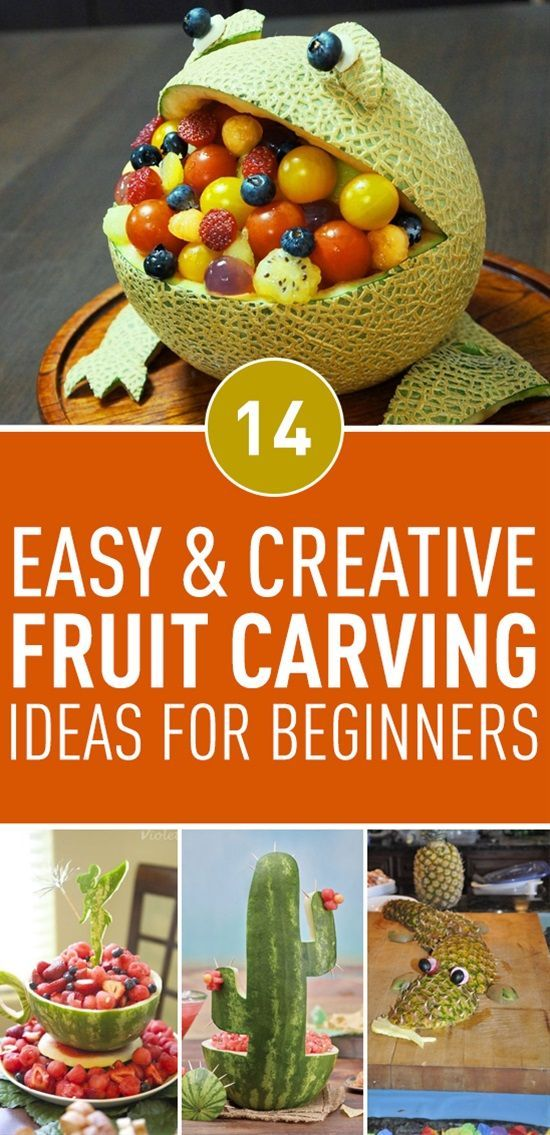 14 Easy Fruit Carving Ideas For Beginners | Fruit carving ...