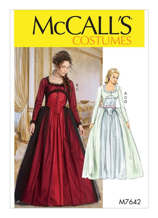 M7642 Mccalls Patterns Costumes Patterns Pinterest