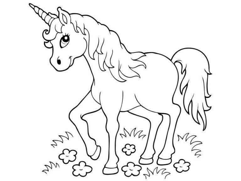 Coloriage Imprimer Une Licorne Au Galop Avec 15628 Licorne Et