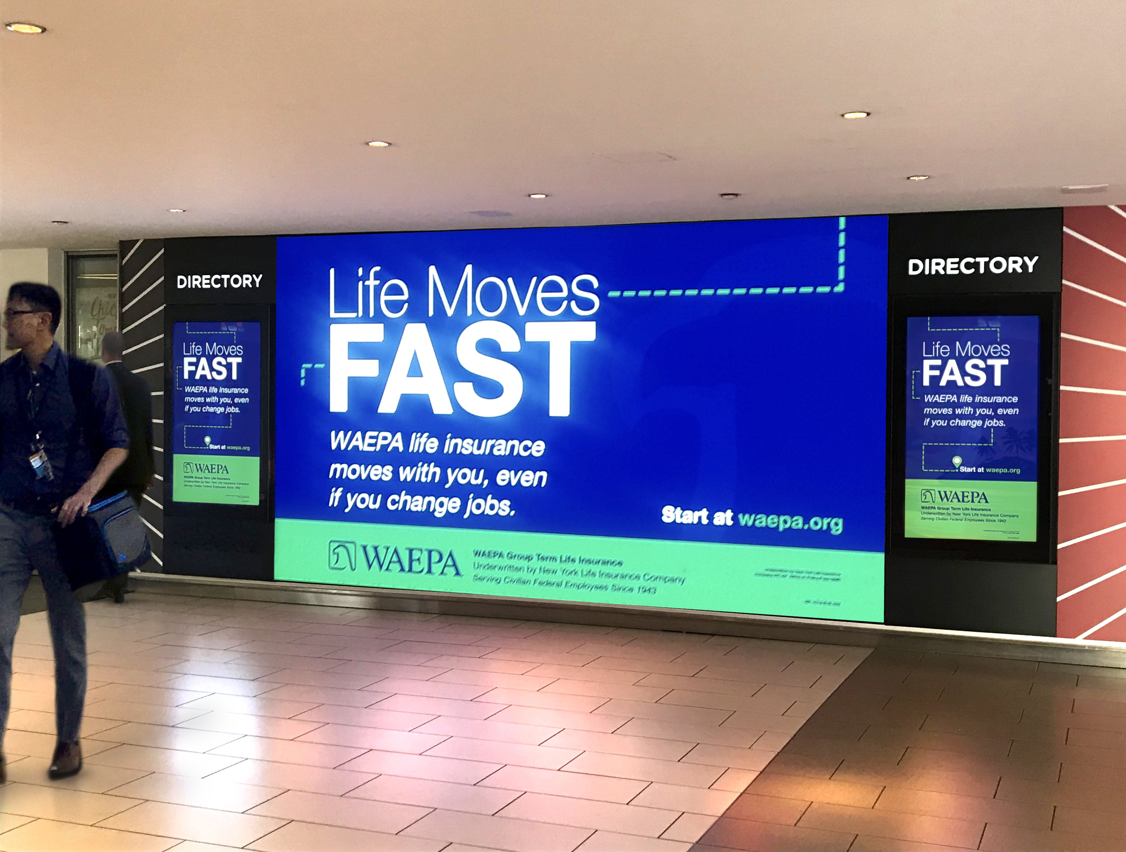 Waepa Campaign Dominating Our Video Ad Wall At L Enfant Plaza