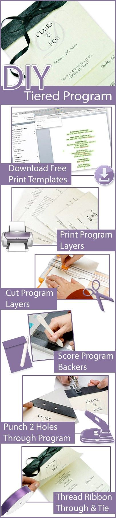 steps to make your own tiered wedding program free print
