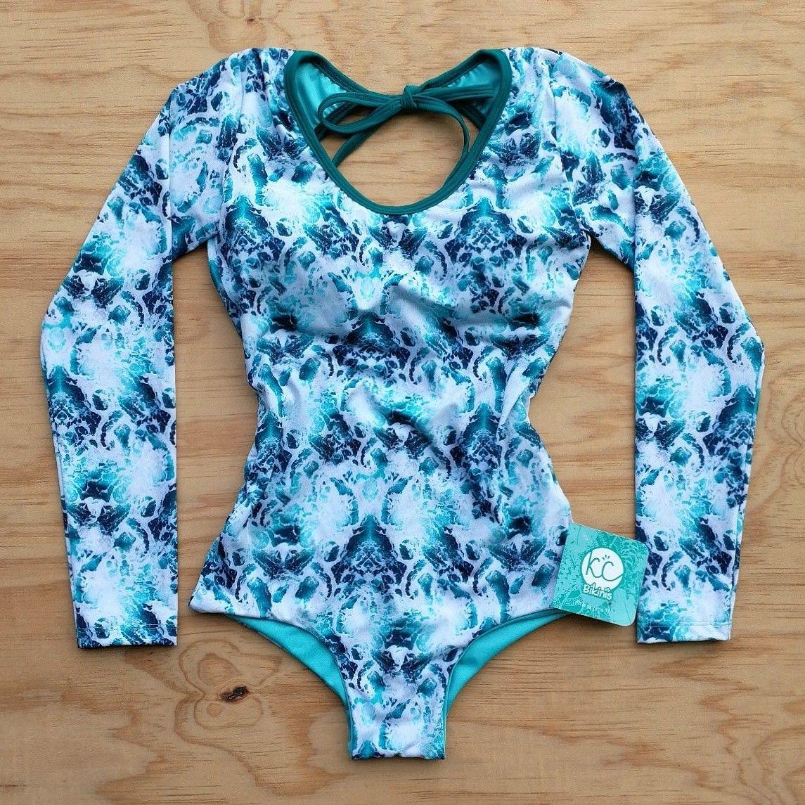67726d2e38375 Traje de baño entero manga larga con protección solar factor 50  kcbikinis   madeincostarica  swimwear  upf50  costarica