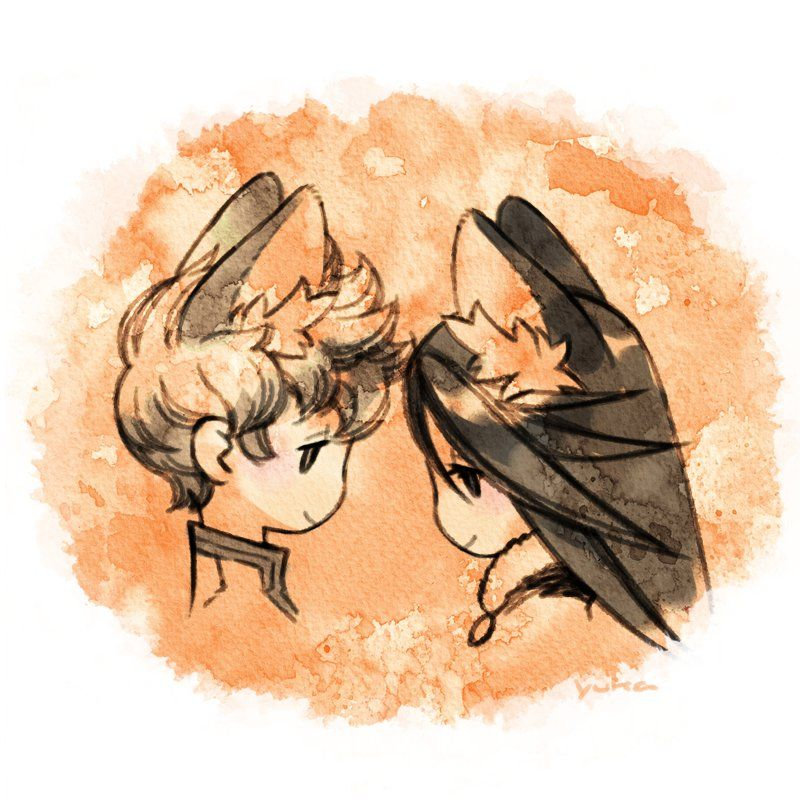 [Fanart] Agnes and Tiz with cat's ears © yukasaba / Source: twitter.com/0vk_pict