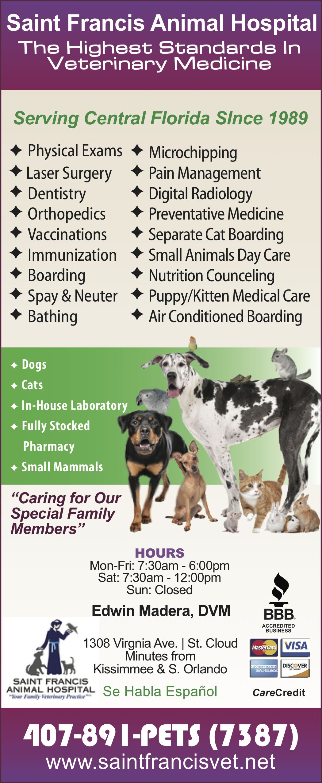 Your Pet Is An Important Part Of Your Family And When He Or She Is Ill You Want The Best Medical Care Availabl Animal Hospital Preventive Medicine Medical Care