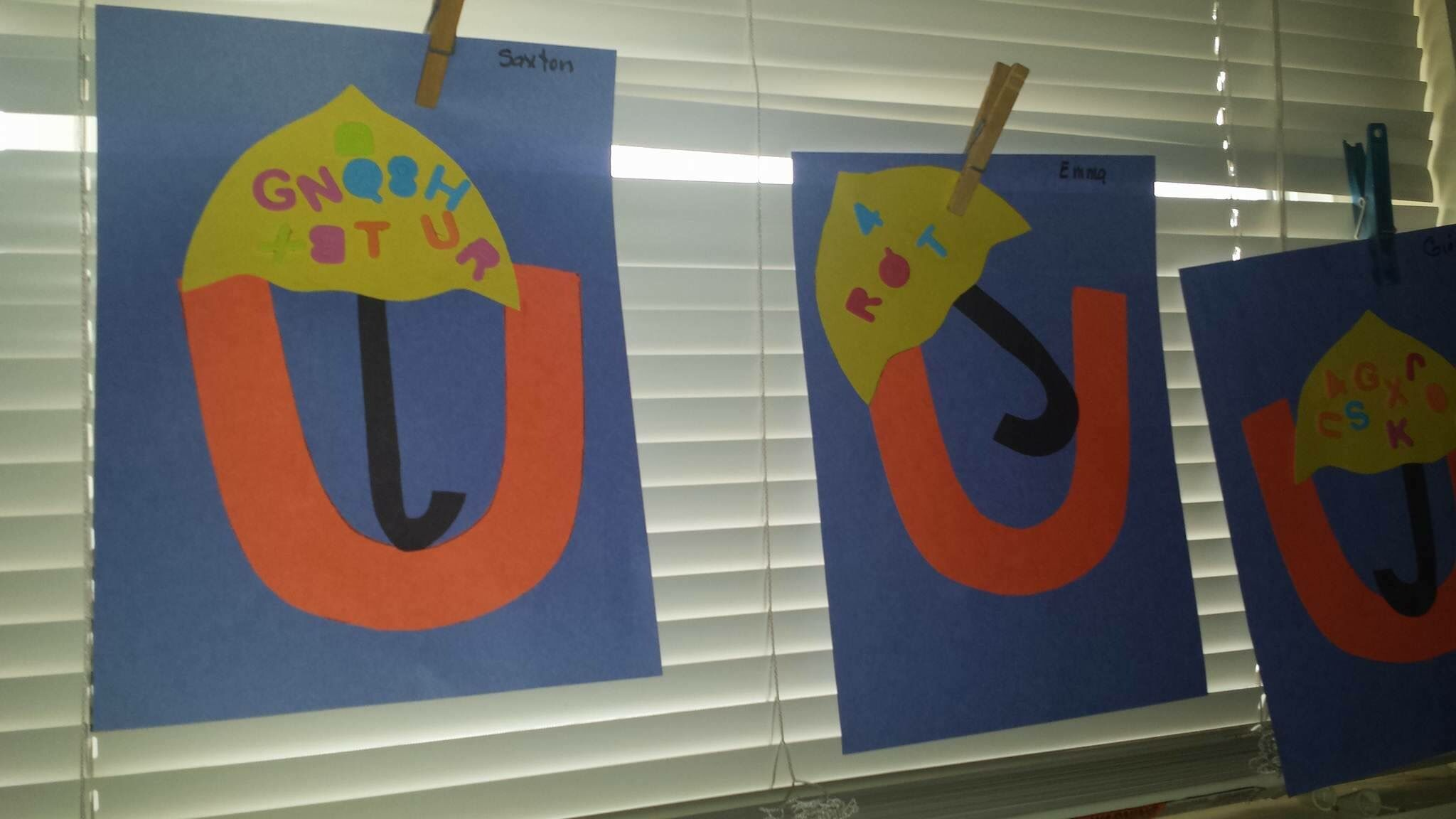 Preschool Art Letter Of The Week Art Letter U Umbrella